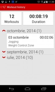 Workout History Screen